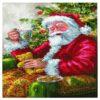 Πίνακας με Ψηφίδες Diamond Dotz Complete Κιτ ο Άγιος Βασίλης στο Δέντρο
