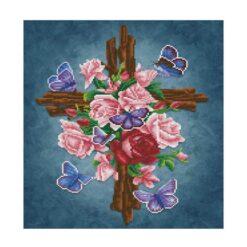 Πίνακας με Ψηφίδες Diamond Dotz Complete Κιτ Flower Cross