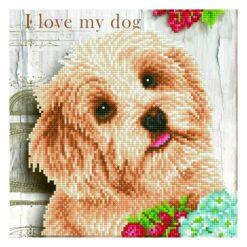 Πίνακας με Ψηφίδες Diamond Dotz Complete Κιτ I Love my Dog