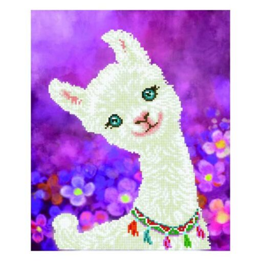 Πίνακας με Ψηφίδες Diamond Dotz Complete Κιτ Lulu Llama