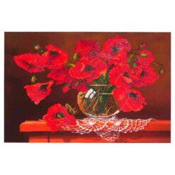 Πίνακας με Ψηφίδες Diamond Dotz Complete Κιτ Red Poppies