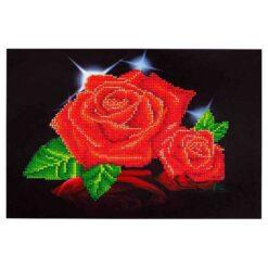 Πίνακας με Ψηφίδες Diamond Dotz Complete Κιτ Red Rose Sparkle