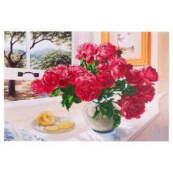 Πίνακας με Ψηφίδες Diamond Dotz Complete Κιτ Roses by the Window