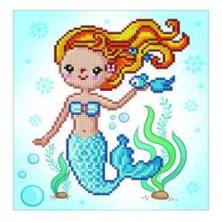 Πίνακας με Ψηφίδες Diamond Dotz Complete Κιτ Sweet Swimmer