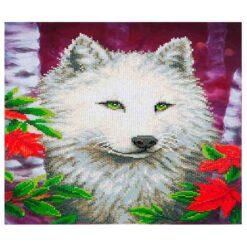 Πίνακας με Ψηφίδες Diamond Dotz Complete Κιτ White Wolf