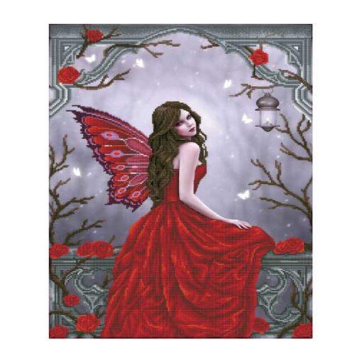 Πίνακας με Ψηφίδες Diamond Dotz Complete Κιτ Winter Rose Fairy