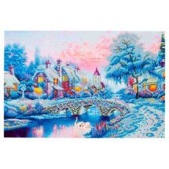 Πίνακας με Ψηφίδες Diamond Dotz Complete Κιτ Winter Village