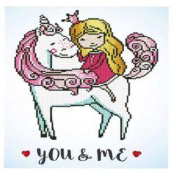 Πίνακας με Ψηφίδες Diamond Dotz Complete Κιτ You & Me