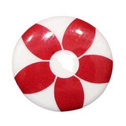 Παιδικά Κουμπιά με Σχέδιο Μαργαρίτα σε Κόκκινο