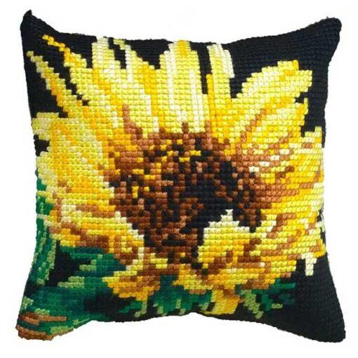 Μαξιλάρι για Κέντημα με το Λουλούδι Ηλιοτρόπιο