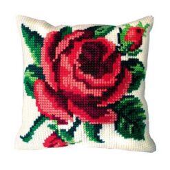 Μαξιλάρι για Κέντημα με Τριαντάφυλλο