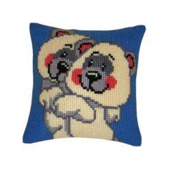 Παιδικό Μαξιλάρι για Κέντημα με τα Αρκουδάκια Αγκαλιά