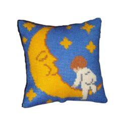 Παιδικό Μαξιλάρι για Κέντημα το Παιδί με το Φεγγάρι