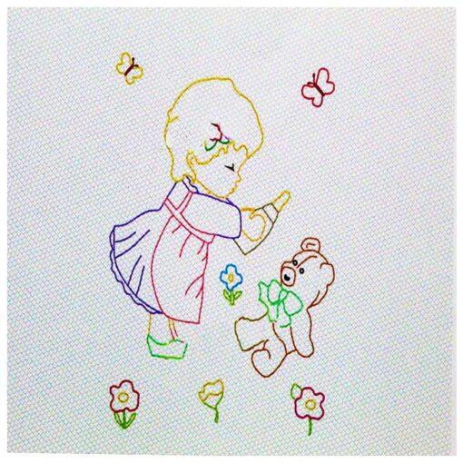 Κέντημα Πάνα Πικέ Αγκαλιάς (Με το Κοριτσάκι)