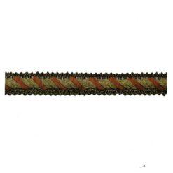 Σιρίτι Λασέ με Χρυσοκλωστή με Πλάγια Γραμμή σε Κεραμιδή