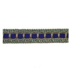 Σιρίτι Λασέ με Χρυσοκλωστή και Χρωματιστή Κορδέλα σε Μπλε