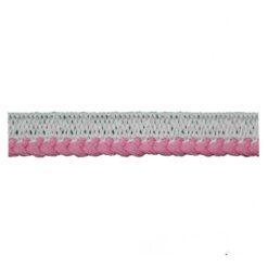 Φιτίλι Βαμβακερό με Πλεξίδα για Τελείωμα 10mm Ροζ