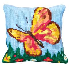 Παιδικό Μαξιλάρι για Κέντημα με την Πολύχρωμη Πεταλούδα